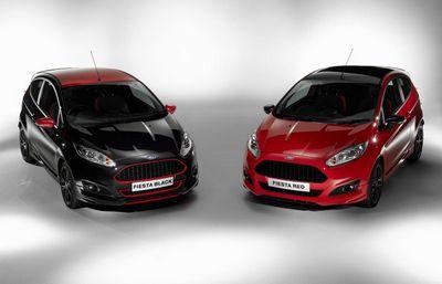 Ford представил 140-сильные хэтчбеки fiesta red и black edition