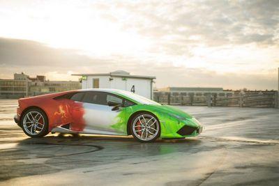 Lamborghini huracan в эксклюзивной окраске от print tech