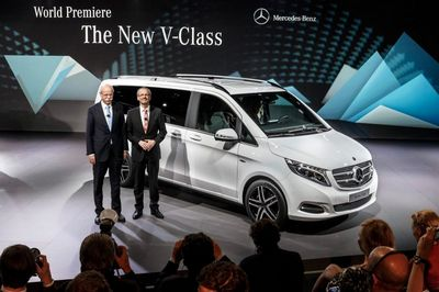 Mercedes-benz представил большой минивэн v-class