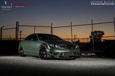 Mercedes c63 amg coupe от skyline speed tuning и vellano wheels