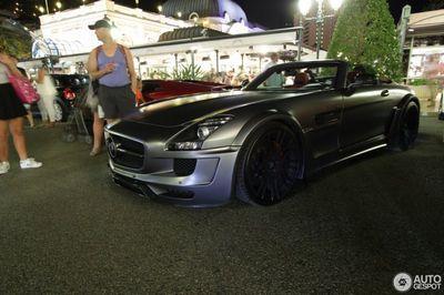 Редкий mercedes hamann sls amg roadster засветился в монако