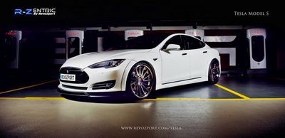 Tesla model s в тюнинге от revozport
